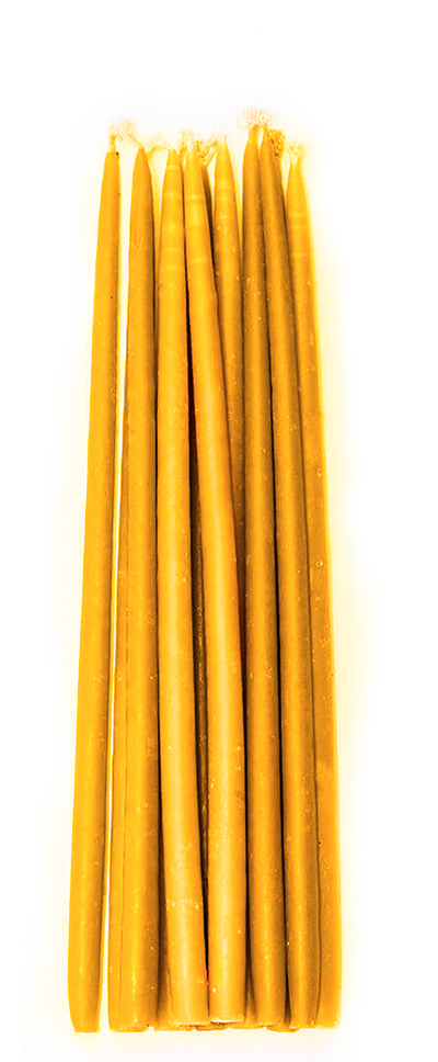 Pure beeswax candles | 3/8 x 10
